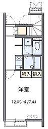 西武秩父線 東飯能駅 バス11分 丙新田下車 徒歩5分の賃貸アパート 2階1Kの間取り