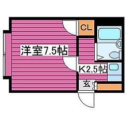 北海道札幌市東区北三十七条東16丁目の賃貸マンションの間取り
