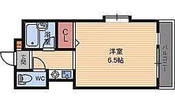 兵庫県尼崎市七松町2丁目の賃貸マンションの間取り