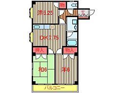 千葉県船橋市薬円台4丁目の賃貸マンションの間取り