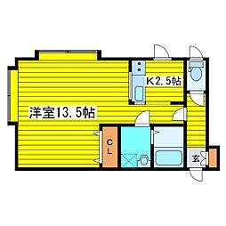 北海道札幌市東区北二十条東16丁目の賃貸アパートの間取り