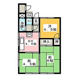 めぐみ荘[1階]の間取り