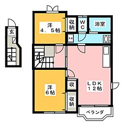 カームシーサイドII[2階]の間取り