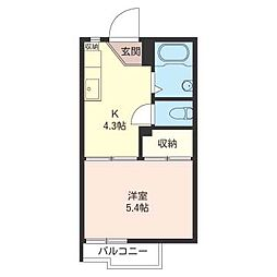 タウニー北松戸A棟[2階]の間取り