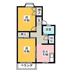 ハイツイーグル[1階]の間取り