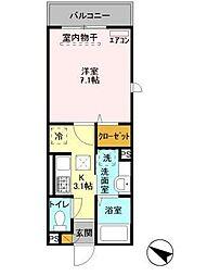 AXIS北松戸[1階]の間取り