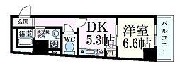 プリンセプスドムス 5階1DKの間取り