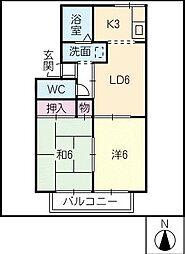 メゾン・ド・デボラ[2階]の間取り