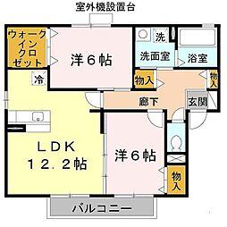 セドール富田林[2階]の間取り