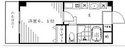 アルビオン宮地[6階]の間取り