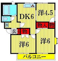 ノーブルマンション[301号室]の間取り