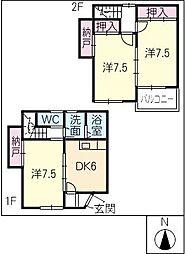 [タウンハウス] 三重県鈴鹿市神戸2丁目 の賃貸【/】の間取り