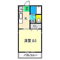 シティパル21[1階]の間取り