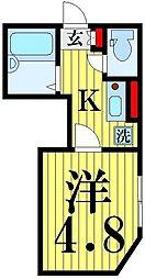 東京都足立区足立4丁目の賃貸アパートの間取り