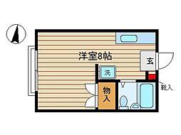 東京都大田区久が原6丁目の賃貸アパートの間取り