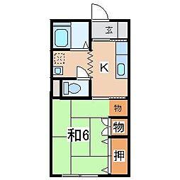 SAKAEアパート[202号室]の間取り
