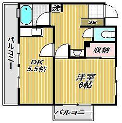 東京都目黒区洗足1丁目の賃貸マンションの間取り