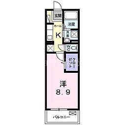 JR東海道・山陽本線 吹田駅 徒歩18分の賃貸マンション 2階1Kの間取り