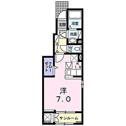 つくばエクスプレス つくば駅 バス31分 さくらの森下車 徒歩12分の賃貸アパート 1階1Kの間取り
