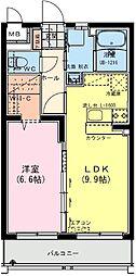 (仮称)日南・星倉マンション 3階1LDKの間取り