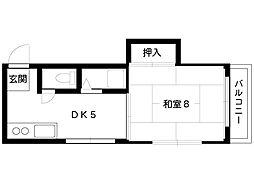 甲南山本ビル[501号室]の間取り