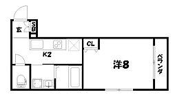 翔鶴館[2階]の間取り