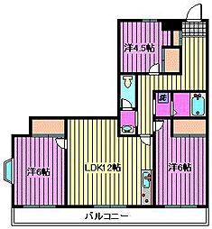 グリーンヒル櫛引[5階]の間取り
