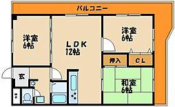 コンテンポラリー貴崎[4階]の間取り