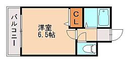 アトラス松山[1階]の間取り