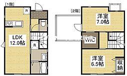 [一戸建] 岡山県岡山市北区今保丁目なし の賃貸【/】の間取り