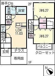 [タウンハウス] 愛知県春日井市神領町 の賃貸【/】の間取り