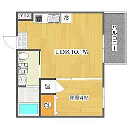 Fメゾン東加賀屋I番館[3階]の間取り