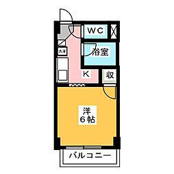愛知県清須市西枇杷島町下新の賃貸マンションの間取り