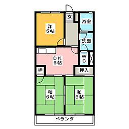 サンハイツカワムラ[2階]の間取り