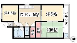 愛知県名古屋市名東区明が丘の賃貸マンションの間取り