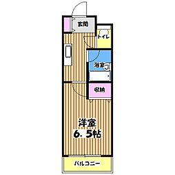 武蔵野コーポ2[1階]の間取り