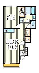 アンサンブルコートB棟[1階]の間取り