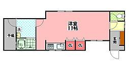 京阪本線 守口市駅 徒歩5分の賃貸テラスハウス 1階ワンルームの間取り