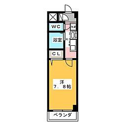 愛知県名古屋市港区小賀須1丁目の賃貸マンションの間取り