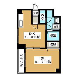 一条荘苑[4階]の間取り