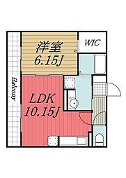 D-room B[3階]の間取り
