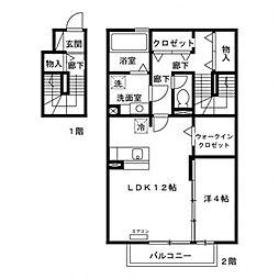 花水木G棟[2階]の間取り