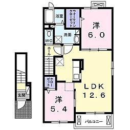 上花輪アパート[2階]の間取り
