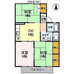 兵庫県高砂市伊保東1丁目の賃貸アパートの間取り