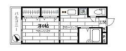 サンライフ狛江[3階部分号室]の間取り