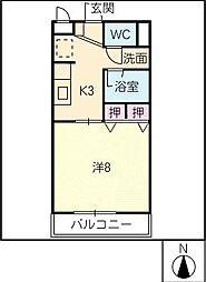 メナークレール[1階]の間取り