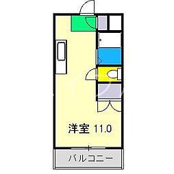 レジデンス優美15II[4階]の間取り