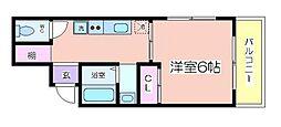 兵庫県姫路市元塩町の賃貸アパートの間取り