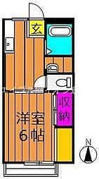 岡山県倉敷市福井丁目なしの賃貸アパートの間取り