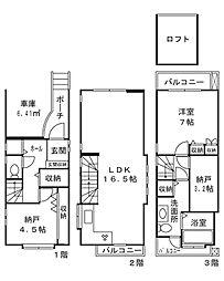 [一戸建] 東京都新宿区北新宿1丁目 の賃貸【/】の間取り